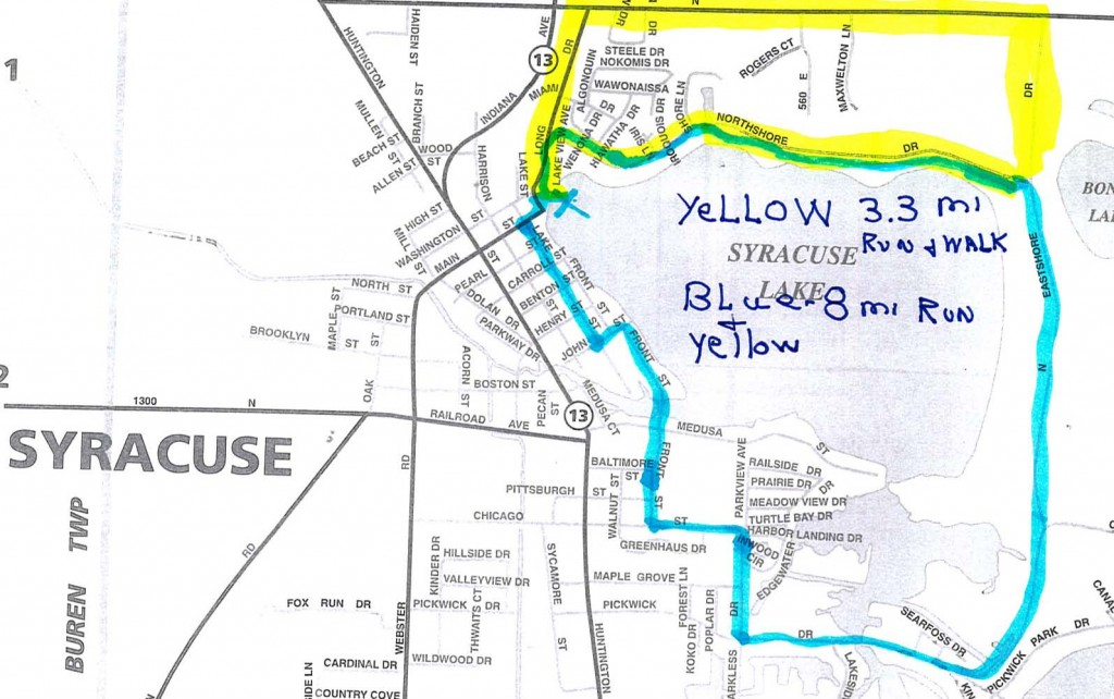 2009 Flotilla Road Race Map